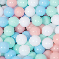 100Pcs Colorful Water Pool Ball Soft Plastic Ocean Ball Baby Kids Swim Pit Toy