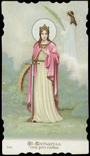 antico santino cromo-holy card S.CATERINA V.M.