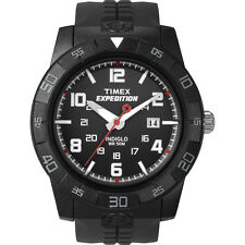 Timex Mens Expedition Rugged Water Resistant Black Analog Field Watch with Date