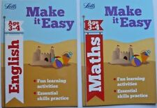 Letts make it easy English and Maths age 3-4  workbook practice book