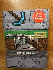 Minecraft Twin Sheet Set, brand new in retail packaging