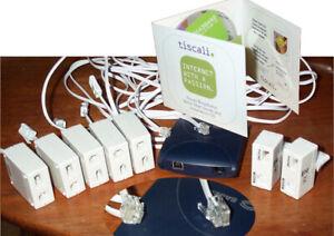 Sagem ADSL modem, plus 5 ADSL Filters Sagem, plus CD
