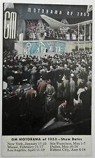 1953 General Motors GM MOTORAMA Show Advertising Postcard