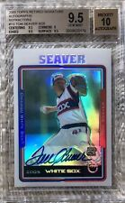 2005 TOPPS RETIRED AUTO REFRACTOR /25 TOM SEAVER BGS 9.5 POP 1 CARDREGISTRYinc.