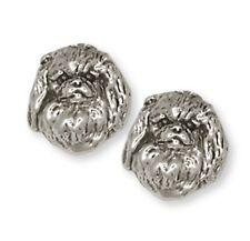 Pekingese Earrings Handmade Sterling Silver Dog Jewelry Pk1-E