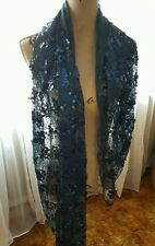 NWT ♡ Joan Rivers ♡ Shimmering Large Sequin Scarf ♡ Blue