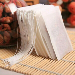 100pcs Empty Teabags Heat Seal Filter Pepper Herb Loose Tea Bags 7 Sizes