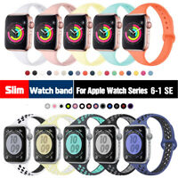 38/40mm 42/44mm Slim Silicone iWatch Band Women Strap for Apple Watch 6 5 4 3 SE