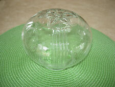 VINTAGE CLEAR ETCHED GLASS LIGHT GLOBE