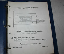 AR-850 Altitude Reporter Installation Manual Avionics