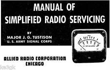 Manual of Simplified Radio Servicing * CDROM * PDF