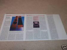 JBL 250Ti Lautsprecher Review, 1985,3 Seiten, Voller Test, Spezifikationen