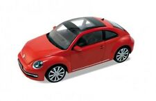WELLY VOLKSWAGEN NEW BEETLE RED WITH SUNROOF 1/24 DIECAST CAR MODEL 24032