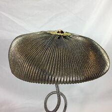 Women's Gold Ribbed Newsboy Cabbie Cap Hat