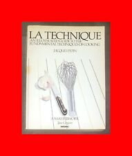RARE VG#PB BOOK COOKBOOK:LA TECHNIQUE-JACQUES PEPIN ILLUSTRATED GUIDE OF COOKING