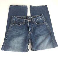 American Eagle Mens Jeans Size 28 x 28 Boot Cut 100% Cotton Denim Jeans