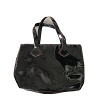Stephanie Johnson For Saks Fifth Avenue Black Patent Leather Tote Purse Bag
