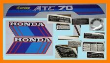 1985 ATC70 ATC 70 HONDA EMBLEM DECAL STICKER SET CES/A7/85