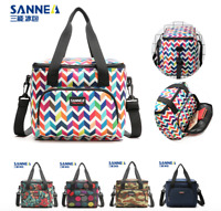 Sanne 10L Lunch Bag Insulated Cooler Box Tote Bento Bag Smooth Zipper