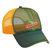 DEKALB SEED Green & Yellow FullMesh Trademark Logo Cap Hat New Ballcap Corn