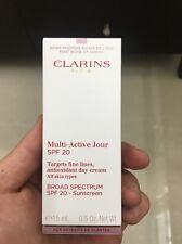 Clarins Multi-Active Jour SPF 20 Antioxidant Day Cream 0.5 oz 15ml BNIB BARGAIN!