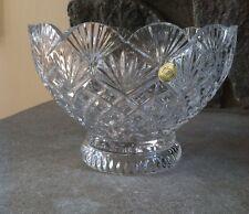 "Clara Imperial Crystal Bowl Dish, 6"" Round, New"