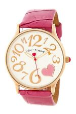 Betsey Johnson Rose Gold Tone & Leather Watch NWT IOB BJ00205-01
