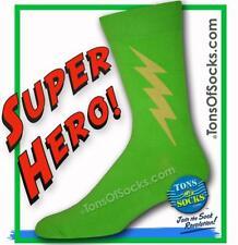 Men's Super Hero Socks (Lime Green)