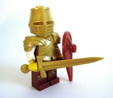 Lego Custom GOLDEN KNIGHT Templar with Custom Armor and Sword -Castle LOTR