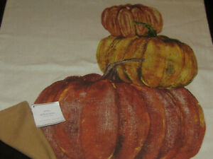"""NEW Pottery Barn HALLOWEEN Painted Stacked Market Pumpkins 20"""" Pillow Cover FALL"""