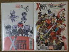 Uncanny XMen. State Bird Variant -Deadpool & Skottie Young Baby Variant Signed!