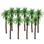 10pcs Green Model Palm Trees Train Coconut Rainforest Scenery Layout Scale 1:100