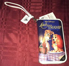 Disney Parks Lady And The Tramp Vhs Zipper Wallet Wristlet Clutch Purse