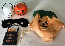 Vintage Halloween Masked Pumpkin Doll / Plush Toy Costume / Outfit & Accessories