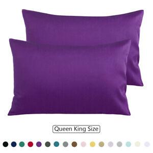 100% Cotton Pillowcases Pillow Case Set of 2 Breathable Toddler Queen King