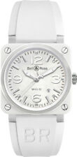 BR-03-92-WHITE-CERAMIC | BRAND NEW BELL & ROSS INSTRUMENTS WHITE CERAMIC WATCH