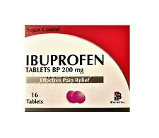 96 Ibuprofen 200mg Tablets, Pain Relief, Migraine, Headache, Rheumatic, Muscular