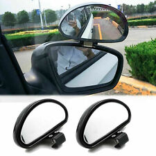 Pair Convex Clip On Half Oval Rear View Blind Wide Spot Angle Auxiliary Mirrors