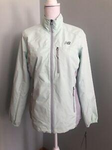NWT New Balance Light Green Dobby Wind & Water Resistant Jacket Women's sz M