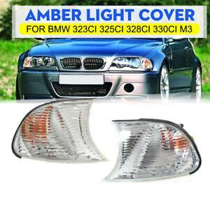 Corner Light Lamp Clear Lens Left Right For BMW 2000 323Ci 328Ci 2001 325Ci PAIR