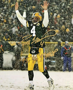 BRETT FAVRE 8X10 SIGNED PHOTO PICTURE GREEN BAY PACKERS REPRINT