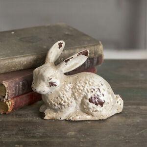 Primitives/Farmhouse Bunny Rabbit Statue Cast Iron Shabby Chic