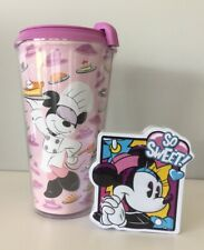 Disney Epcot Food Wine 2019 Scavenger Minnie Mouse Tumbler Cup & Tin Gift Pack
