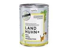 naftie Bio Land Huhn+ Hundefutter Nassfutter Menü, 400g Dose