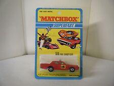 """Matchbox No: 59 """"Fire Chief Car"""" - Red (RARE U.S. BLISTER PACK/Original 1971)"""