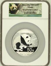2016 China 150g Silver Panda ¥50 NGC PF69 Ultra Cameo