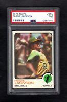 1973 TOPPS #255 REGGIE JACKSON A'S PSA 7 NM SHARP CARD!
