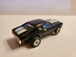 70 CHEVELLE, NEW AW CHASSIS HO Slot Car, VERY NICE SET OF AJ SLICKS  TIRES