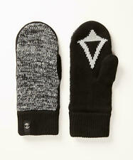Lululemon Ivivva Girls Naturally Nice Mitten Black White Sz M/L Nwt