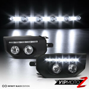 "For 07-15 Toyota FJ Cruiser Black ""UAE STYLE"" Bumper Wing LED Foglights Lamp Kit"